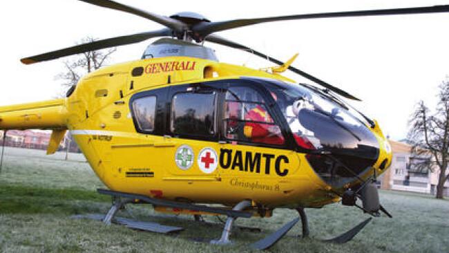 Hubschrauber Rettung Notarzt Unfall