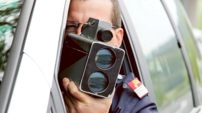Polizei Kontrolle Radar Widescreen