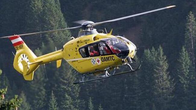 ÖAMTC Hubschrauber Rettung Notarzt Unfall