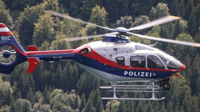 Polizeihubschrauber Hubschrauber Polizei Fahndung Helikopter Symbolbid