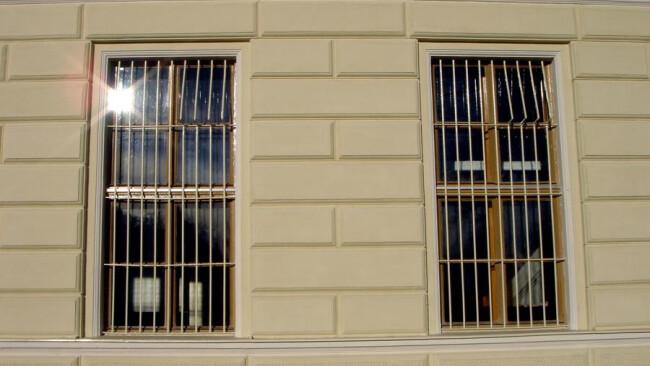 Vergitterte Fenster Gefängnis
