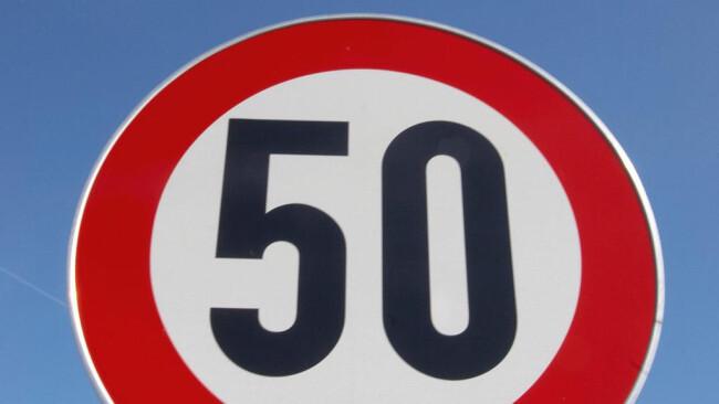 50 50er Geschwindigkeit Geschwindigkeitsbegrenzung