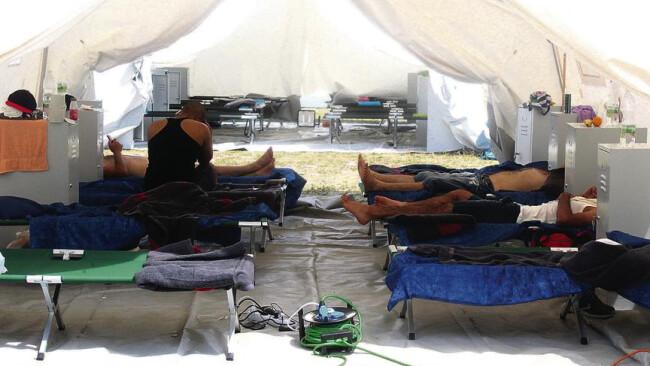Zelte Flüchtlinge Eisenstadt
