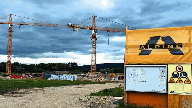 Alpine Baustelle Gesundheitszentrum Bad Erlach 2013