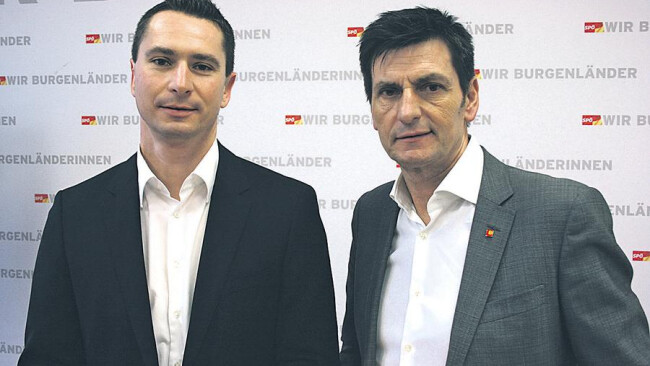 Web-Artikel 5221»Empört und entschlossen«: SPÖ-Landesgeschäftsführer Robert Hergovich und Klubobmann Christian Illedits (v.l.) wollen so lange recherchieren, bis die Hintergründe aufgedeckt sind.